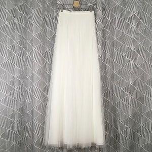 BHLDN Jenny Yoo Louise Ivory Wedding Tulle Skirt